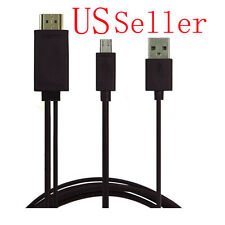 6Ft 1080P Micro USB MHL to HDMI Cable adapter HDTV Samsung Galaxy S4 S5 Note 4