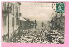 CPA -  70 - GRAY - CRUE DE LA SAONE  - 1911 - INONDATION D'UN CHANTIER DE BOIS