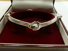 New Ladies Solid Sterling Silver.925 Spanner Bangle 24 grams