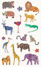 Mrs. Grossman's Turnowsky Stickers - Spectacular Safari Animals - 2 Strips