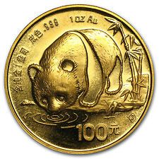 1 oz Gold Chinese Panda Coin - Random Year Coin - SKU #12450