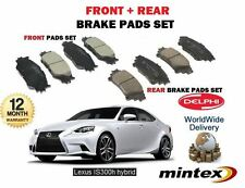 FOR LEXUS IS250 IS300H HYBRID 2013--  NEW FRONT + REAR BRAKE DISC PADS SET