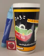Teacher Classroom Ceramic Mug Crayons Block Chalkboard tall coffee latte  cup.