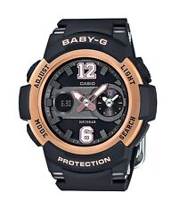 Casio Baby-G * BGA210-1B Dual Dial Black Rose Gold Anadigi for Women COD PayPal