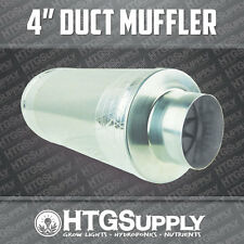 """4"""" DUCT MUFFLER INLINE FAN SILENCER NOISE REDUCER inch four in carbon filter can"""