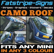 MINI CAR ROOF CAMO KIT GRAPHICS STICKERS DECALS CAMOUFLAGE VINYL ONE COOPER JCW