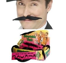20 Años 60s 70s 80s Fancy Dress Adaptable Tash remodelar Bigote Negro Nuevo Smiffys