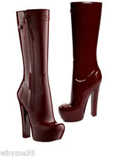 Rare Louis Vuitton Burgundy Runway Fetish Rubber Boots  36 / 6  Fall 2011