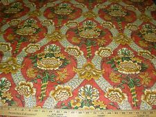 "~17 1/8 YDS~SCHUMACHER~""WOODFORD HALL"" FLORAL~COTTON UPHOLSTERY~FABRIC FOR LESS~"