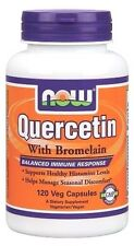 Now Foods QUERCETIN with Bromelain - 120 vcaps IMMUNE BOOSTER,  ALLERGY RELIEF