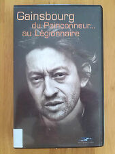 "VHS Video Serge Gainsbourg ""du Poinconneur au Legionnaire"""