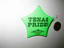 TEXAS PRIDE! Lone Star Steakhouse & Saloon Star BADGE PIN PinBack Button GREEN