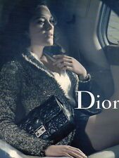 Publicité Advertising 2011  DIOR sac à main collection mode Marion Cotillard