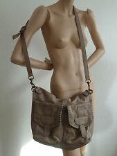 Schultertasche HANDTASCHE Tasche - antik grau - Leder - * LIEBESKIND *