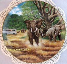 Higgins Bond Great Tusks Of The Serengeti Elephant Collectible Lim Ed Plate Mint