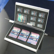 12 in 1 Aluminum Micro SD TF Memory Card Storage Box Protecter Case Holder New