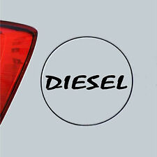 Reflective Black diesel Decal / Sticker for Car Fuel Lid