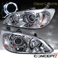 2004-2005 Honda Civic 2dr Coupe 4dr Sedan Halo projector headlights chrome style