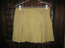 Review Size 10 mustard yellow pleated short skirt