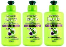 3x Garnier Fructis TRIPLE POWER ELASTIC CURLS Hair Comb Cream Crema Para Peinar