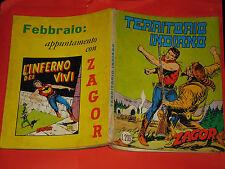 ZAGOR ZENITH ORIGINALE N° 70 -LIRE 200- (ZAGOR gigante N°19 ) -DEL 1967 CON mg