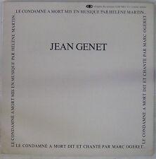Jean Genet 33 tours Le condamné à mort Hélène Martin