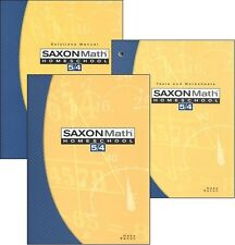 Saxon Math 5/4 (Grade 4) Homeschool Kit *3rd Edition*   NEW