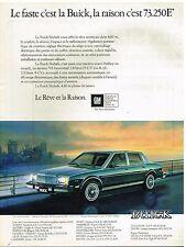 Publicité Advertising 1980 La Buick Skylark
