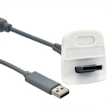 Cargador Usb Cable De Plomo Para Microsoft Xbox 360 Wireless, gamepad Gris