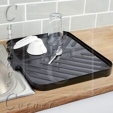 BLACK Worktop Drainer Tray. Sink Draining Board. Caravan, Kitchen, Motor home.