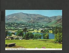 John Hinde  Colour Postcard Coniston Water & Village Lake District unposted