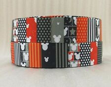 "1"" Disney Mickey Patters  inspired 4 yards Grosgrain Ribbon"