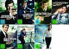 007 x JAMES BOND Complete Collection ROGER MOORE Edition DVD Sammlung Neu