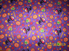 Angry Birds Halloween Spooky Birds on Purple 100% Cotton Fabric by the 1/2 Yard
