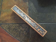 EXTRA LARGE WOOD AND METAL MEZUZAH CASE A NON KOSHER SCROLL