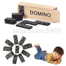 28pcs Dominoes Sets Wooden Box Traditional Board Domino Game Toy Kid Best Gifts