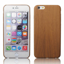 New Luxury PU Leather Hot Ultra-thin Wood Grain Case Cover For Apple iPhone 6s I