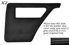 WHITE STITCH 2X REAR DOOR CARDS LEATHER COVER FITS TALBOT SUNBEAM & LOTUS TI