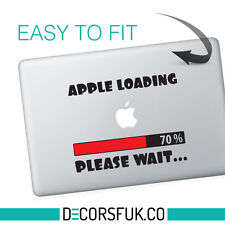 Apple loading Macbook Stickers on black vinyl | Laptop stickers | Macbook Decals