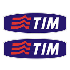 2 Stickers plastifiés TIM - Ducati Moto GP - 15cm x 5cm