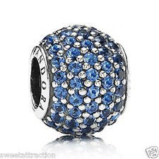 New Pandora Ale 925 Charm Blue Pave Lights 791051NCB Box Included