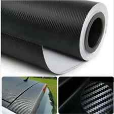 1.27Mx30cm 3D Black Carbon Fiber Vinyl Car Wrap Sheet Roll Film Sticker Decal