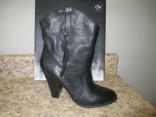 Dolce Vita Pokie Western Boots 10 M Black Leather New with Box