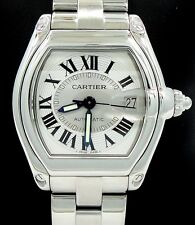 CARTIER ROADSTER LARGE SIZE STAINLESS STEEL AUTOMATIC BOX & PAPERS 2510 W62025V3