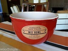 CERAMICHE ALFA TUSCANY FLORENCE ITALY RED TERRACOTTA MIXING BOWL
