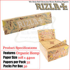 Rizla Natural Natura Hemp King Size Slims Rolling Papers - Full Box 50 Packets
