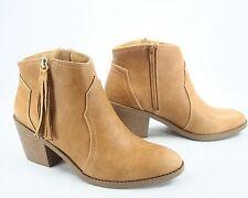NEW Soda Fashion Cute  Fringe Tassel Western Zipper Ankle Booties Size 5.5 - 11