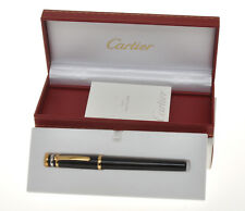Cartier ST210002 black lacquer Trinity fountain pen new old stock in box