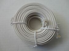 50 Foot Modular Phone/Telephone Wire Line Cord/Cable RJ11 6P4C, White Color