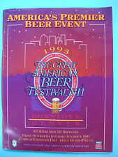 1993 GREAT AMERICAN BEER FESTIVAL Guide ~ Denver GABF Brewery Facts Fest Styles
